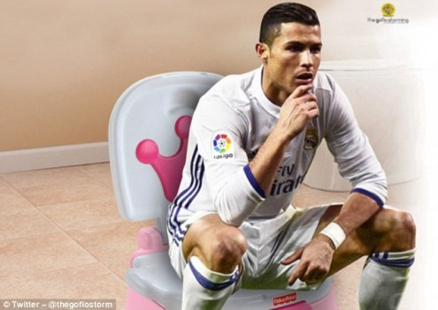 Meme-makers across the world immediately jumped at the chance to alter Ronaldo's location