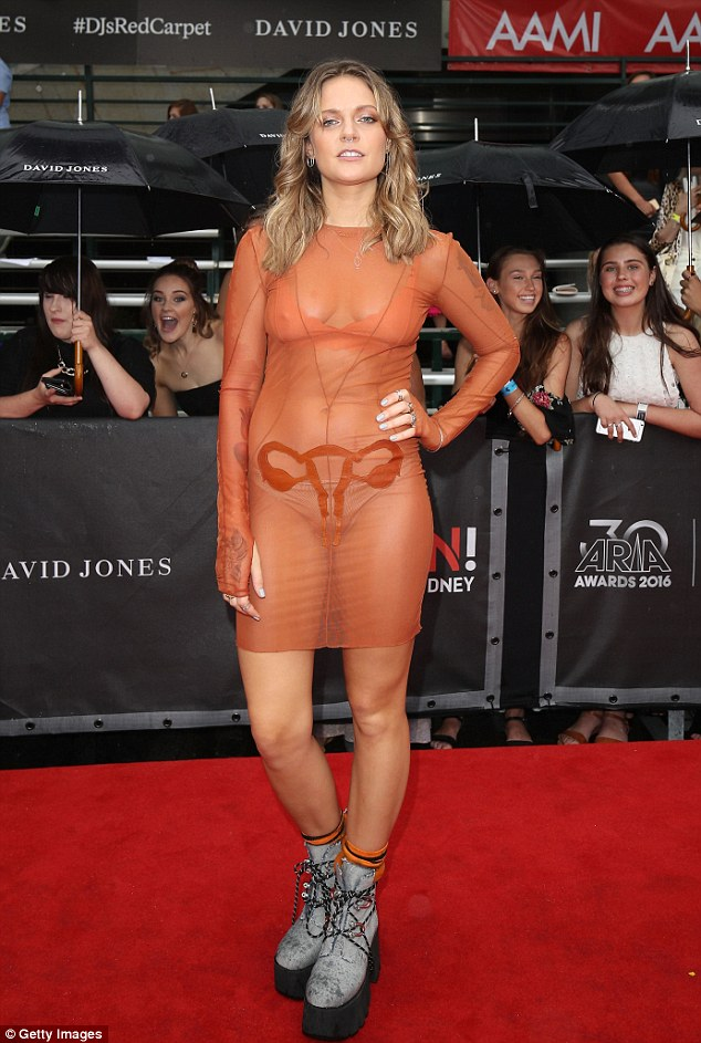 'A vagina... or a p***y¿ whatever you want to call it':Swedish singer Tove Lo has explained the bizarre sheer frock she wore to the ARIA Awards in Sydney on Wednesday