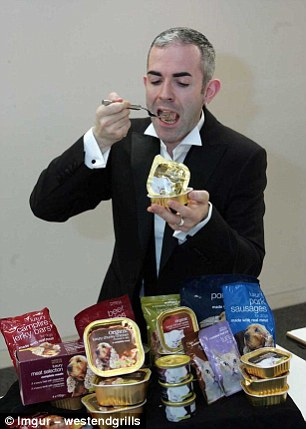 Simon Allison insists he loves his job as a dog and cat food tester for Marks & Spencer