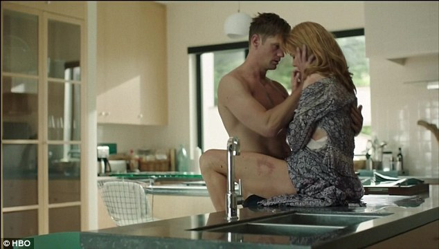 Fast and furious:Early in the episode the gorgeous and wealthy couple can be seen passionately locked in sexual intercourse on the family's kitchen countertop
