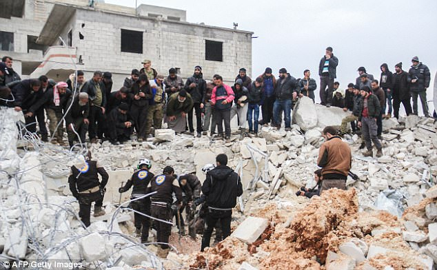 Image result for United States bombed a Syrian mosque full of hundreds of worshipers in an airstrike last month, said Human Rights Watch report.