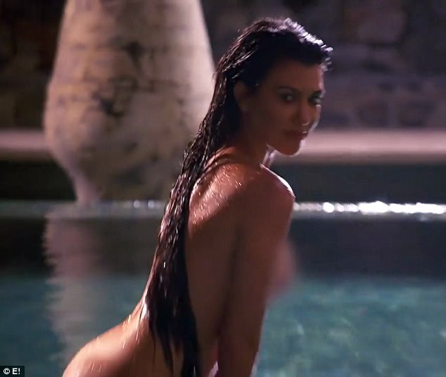 Wow factor: Kourtney definitely owned the camera