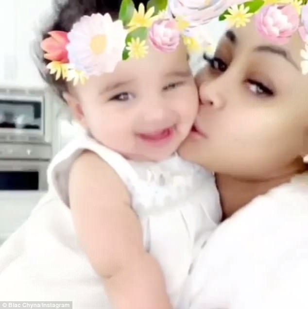 Dream come true: She snuggled with her six-month-old daughter with Rob Kardashian