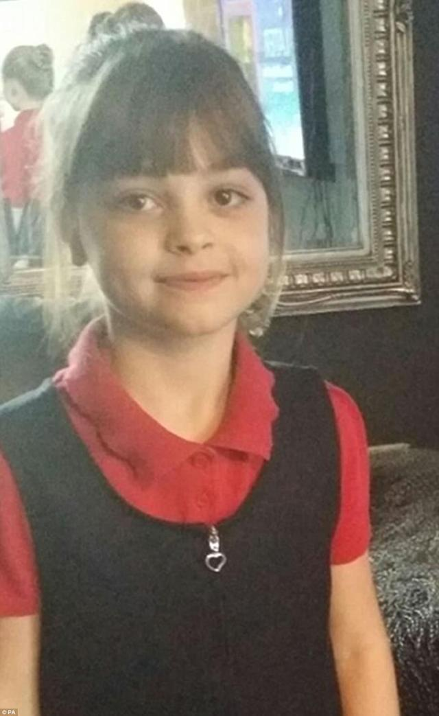 Saffie is remembers as a 'cheerful, chatty and delightful little girl' who was always smiling. She is the youngest known victim of last night's atrocity outside the Manchester Arena