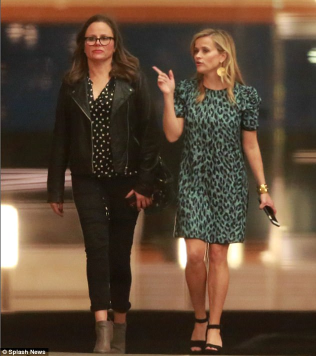 Reese Witherspoon wows in minidress for Ellen s birthday   Daily     Celebrations  Reese Witherspoon cut a chic figure as she joined a host of A