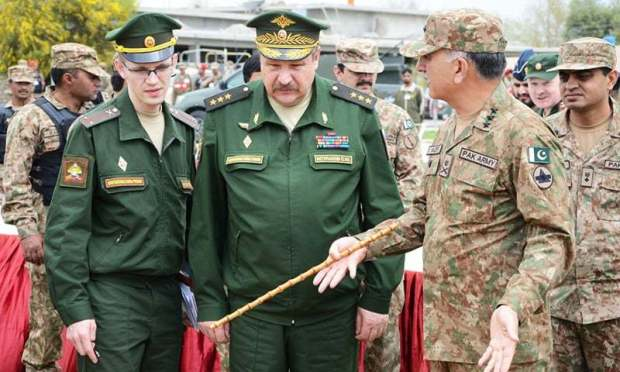The visiting Russian delegation. -ISPR