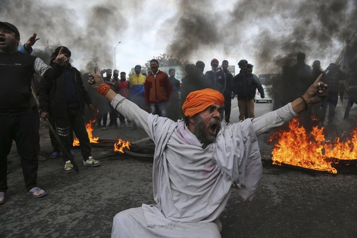"""The Amnesty India press release issued on Tuesday takes note of media reports that """"Kashmiri university students and traders in northern states, primarily Uttarakhand, Haryana and Bihar, have been beaten, threatened, and intimidated by some Hindu nationalist groups."""" ─ AP/File"""