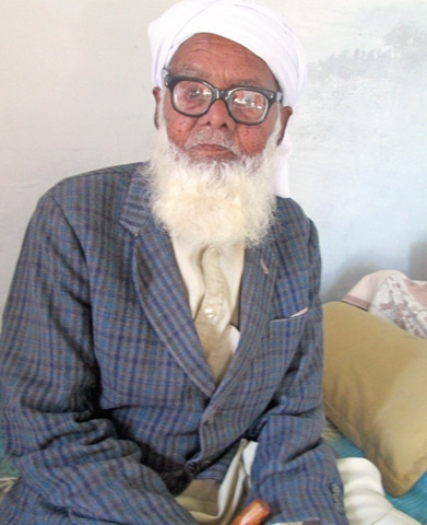 Haji Nazar Mohammad, in his late 90s, a resident of Vahali village who spent his childhood with Hindus and Sikhs of the village
