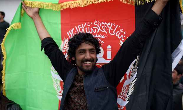 Hundreds of Afghan cricket fans welcomed the national cricket team home at the airport in Kabul. — AFP
