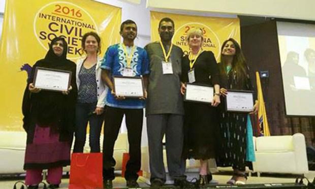 Winners of the 2016 Nelson Mandela – Graça Machel Innovation Awards. —Photo: CIVICUS Alliance
