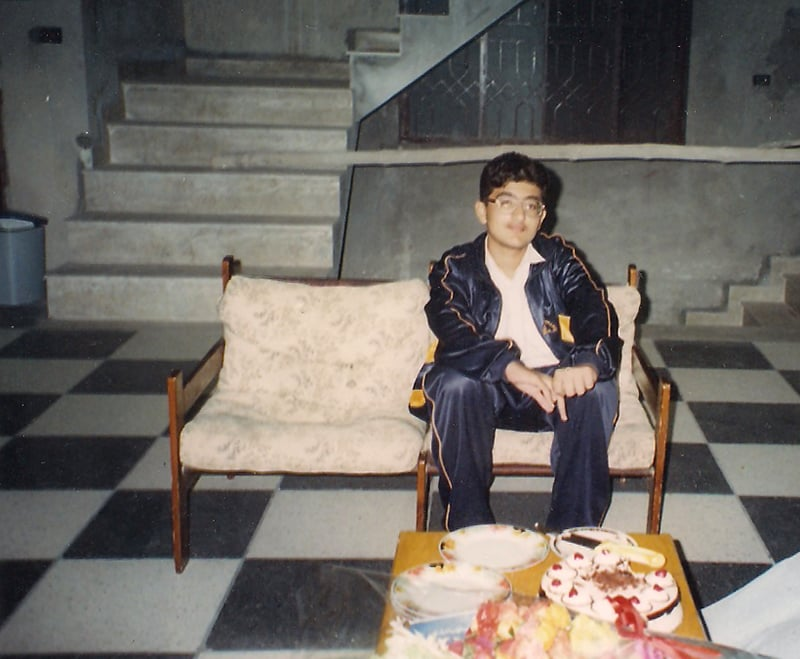 13-year-old me in 1997-98, during a visit to my house (under construction at the time) in Lahore.