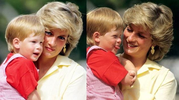 Prince Harry and Princess Diana photographed together (1987)