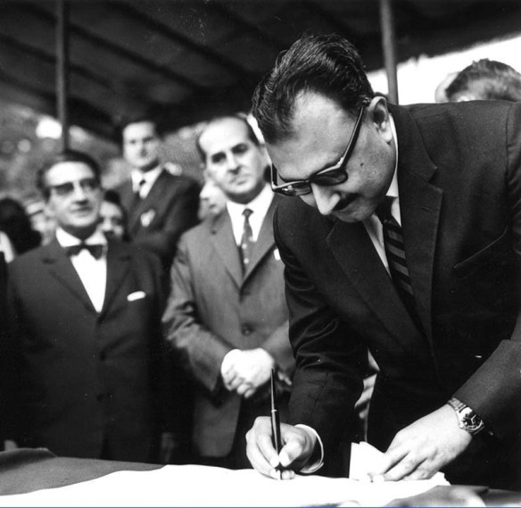 Abdus Salam inaugurating the International Centre for Theoretical Physics in Trieste. Source - ICTP Photo Library