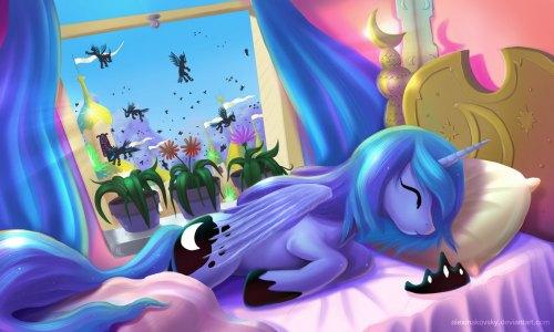Princess Luna is sleeping angel by alexmakovsky