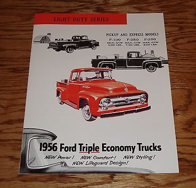 Other Vintage Auto Brochures  Brochures   Catalogs  Automobilia     1956 Ford Light Duty Series Truck F 100 F 250 F 350 Pickup