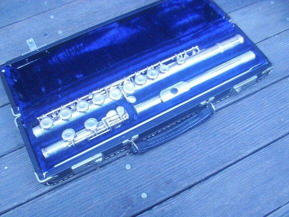 Gemeinhardt M2s Flute Solid Silver Body & Head Joint W/ Case Woodwind Instrument