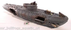 Sunken WW2 Submarine Ship 12 L aquarium ornament fish tank decoration