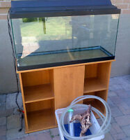 35 gallon aquarium with filter wood stand canopy 35 gallon