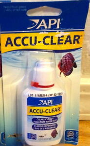 API ACCU CLEAR Fish Tank Cleaner Freshwater Aquarium Cloudy Water 1 25