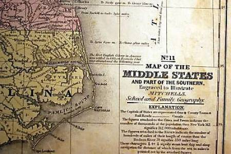 antique map middle united states southern mitc 1839 | ebay