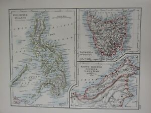 1897 VICTORIAN MAP   PHILIPPINE ISLANDS NORTH BORNEO BRUNEI SARAWAK     Image is loading 1897 VICTORIAN MAP PHILIPPINE ISLANDS NORTH BORNEO BRUNEI