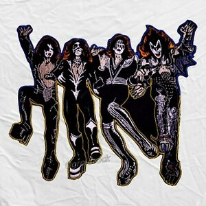 Kiss Destroyer Embroidered Big Patch Back Gene Simmons Paul Stanley     Image is loading Kiss Destroyer Embroidered Big Patch Back Gene Simmons