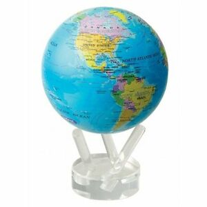 MOVA Globes 4 5  Blue Ocean Political Map Globe Auto Rotating Desk     Image is loading MOVA Globes 4 5 034 Blue Ocean Political