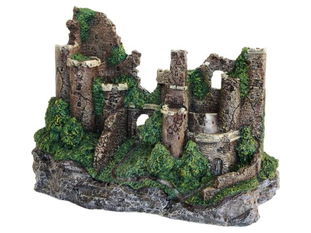 Large Rustic Castle Ruins Aquarium Decoration Fish Tank Ornament 29cm