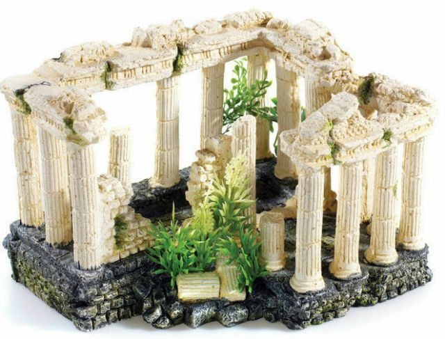 Square Column Ruins Aquarium Ornament Fish Tank Decoration | eBay