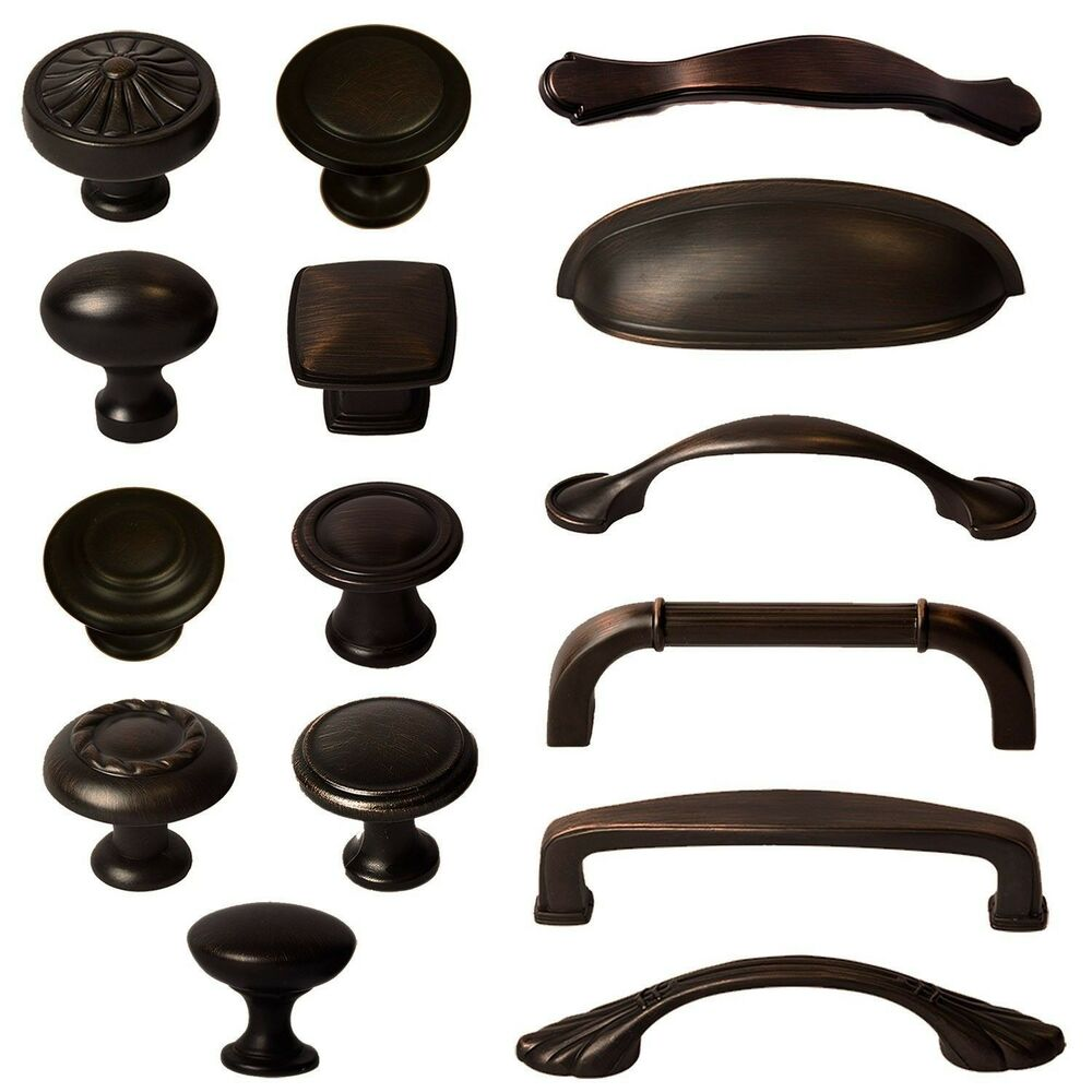kitchen cabinet pulls Cabinet Hardware Knobs Bin Cup Handles and Pulls Oil Rubbed Bronze eBay