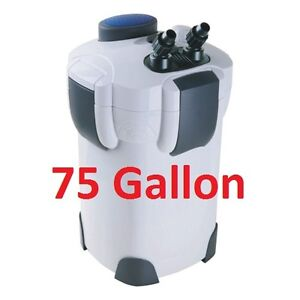 75 Gallon External Aquarium Filter with Builtin Pump Kit Canister HW