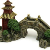 fish tank japanese decorations - Aquarium Decoration Hill Bridge and Tree For fish Tank Resin Ornaments