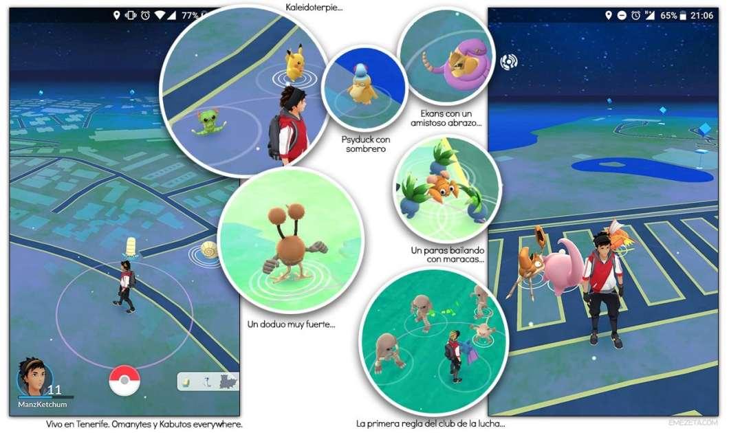 ¡Un pokemon salvaje ha aparecido en Pokémon Go!