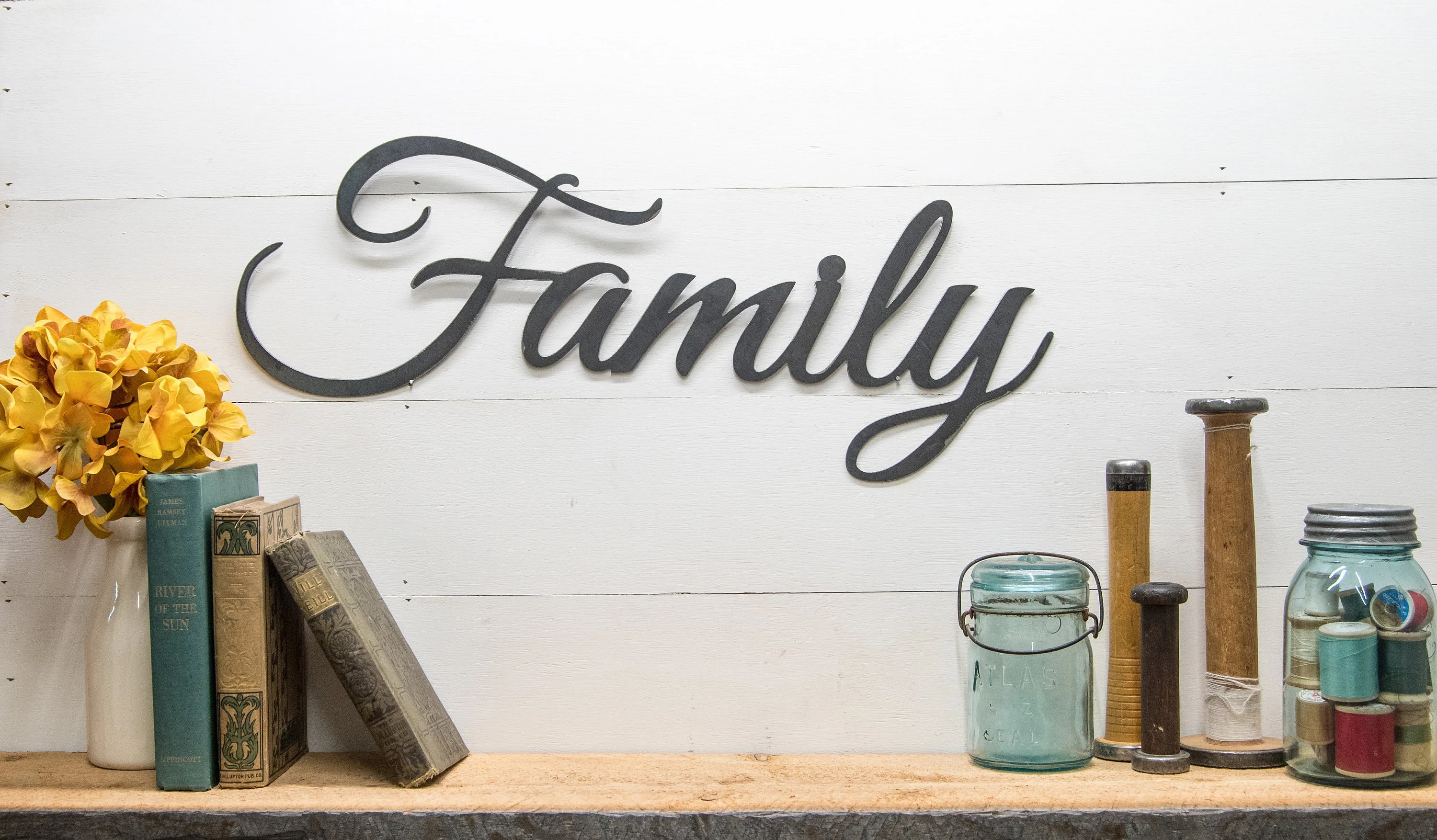 Charmful Rustic Family Metal Farmhouse Home Country Family Sign Rustic Word Wall House Warming Gift Ideas Rustic Family Metal Farmhouse Home Country Family Sign home decor Rustic Farmhouse Home Decor