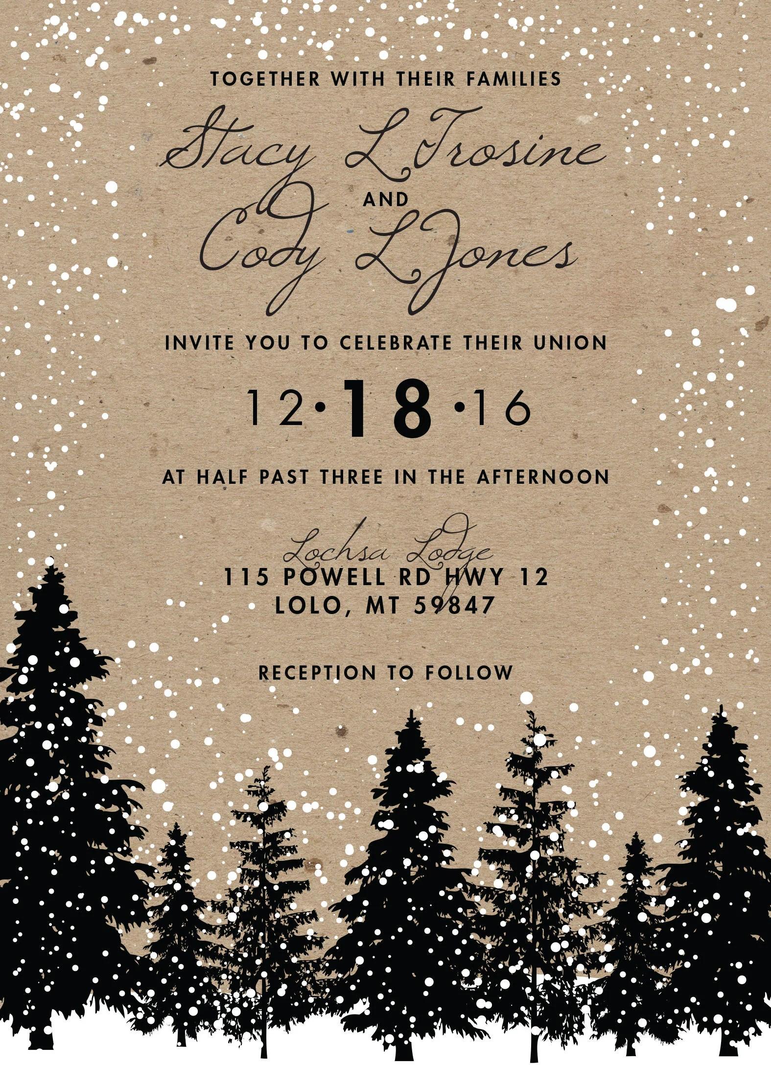 Fullsize Of Winter Wedding Invitations