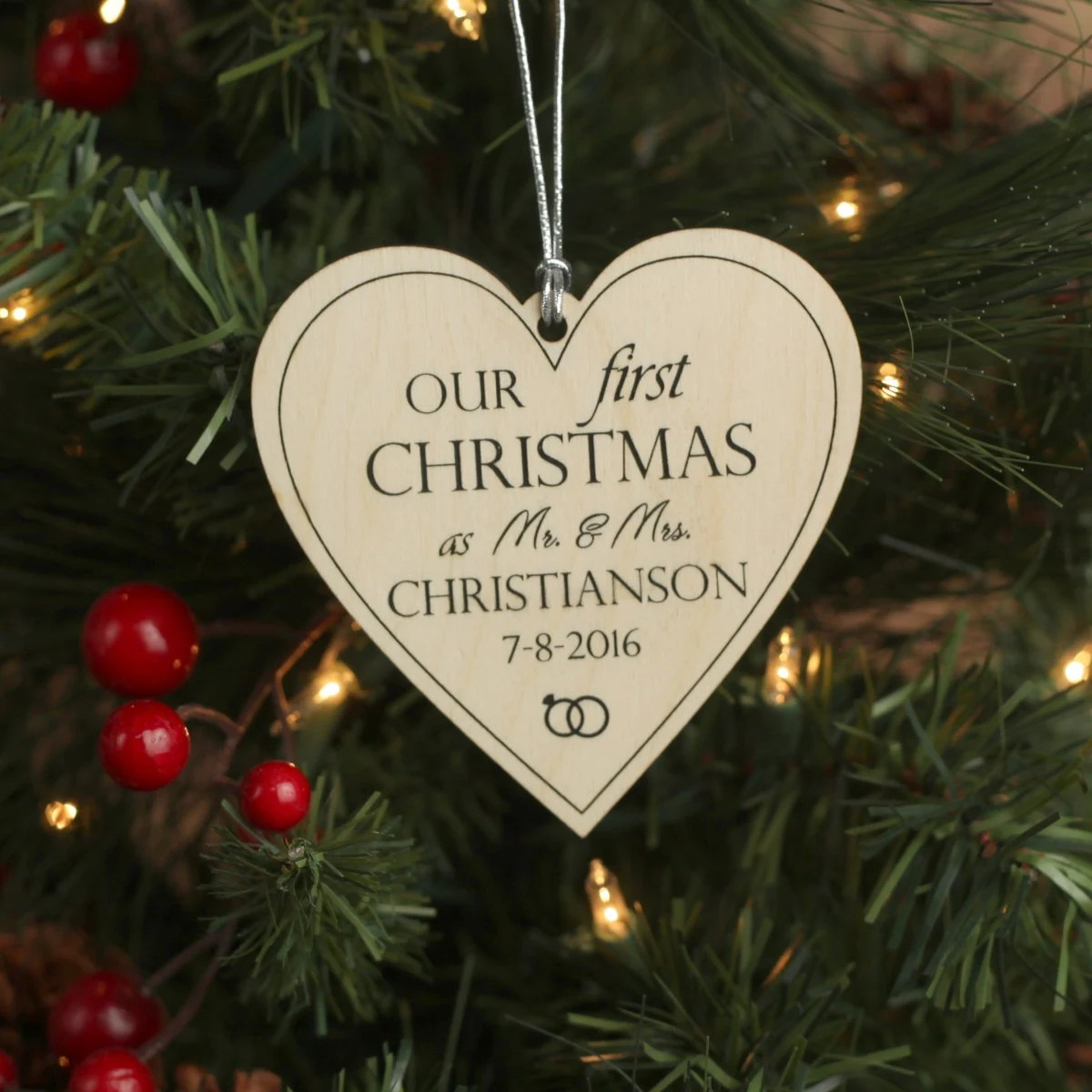Comely Our Heart Ornament Personalized Ornaments Newlyweds Just Married Custom Ornament Our Heart Ornament Personalized inspiration Our First Christmas