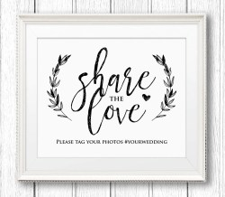 Artistic Wedding Hashtag Share Love Reception Rustic Printable Editable Pdf Digital Wedding Hashtag Share Love Reception Rustic Create Wedding Hashtag Sign Wedding Hashtag Sign Generator
