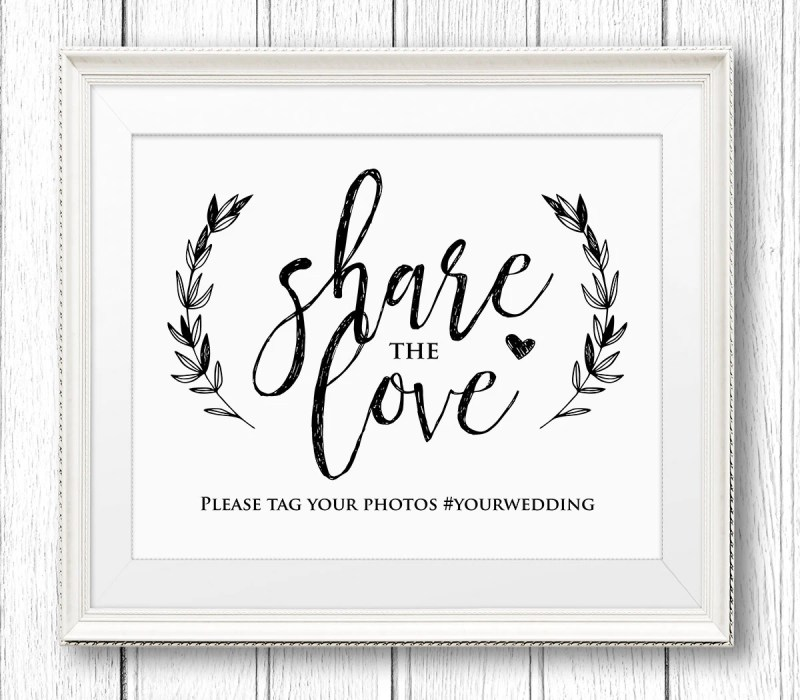 Large Of Wedding Hashtag Sign