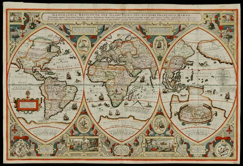 World map 1492   Etsy Ancient rare map of the World at 1492  antique map old  huge map  antique  decor  fine art print
