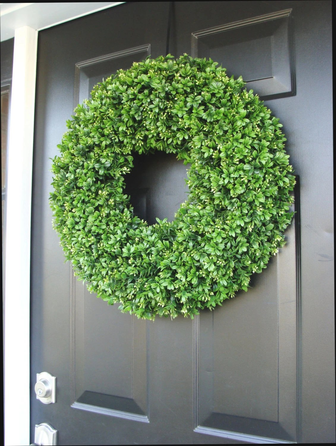 Pleasing Year Round Front Door Faux Boxwood Outdoor Home Room Wall Decor Year Round Front Door Faux Boxwood Outdoor Front Door Decoration Ideas Summer Front Door Decor Summer curbed Front Door Decor