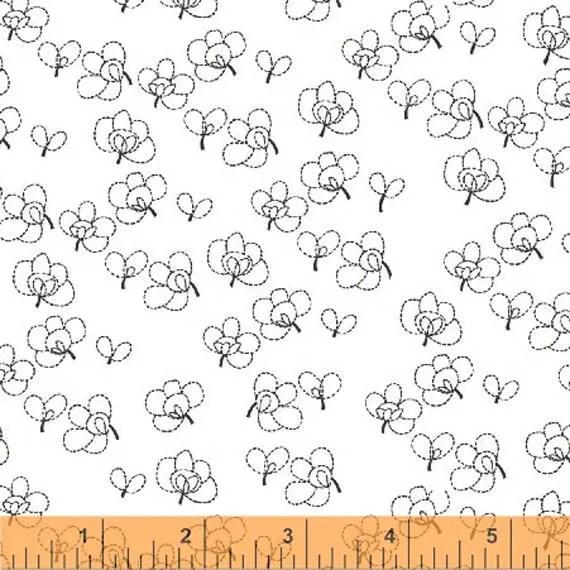 Lotta Jansdotter Fabric - Lilla - Rue11 in Stone Grey