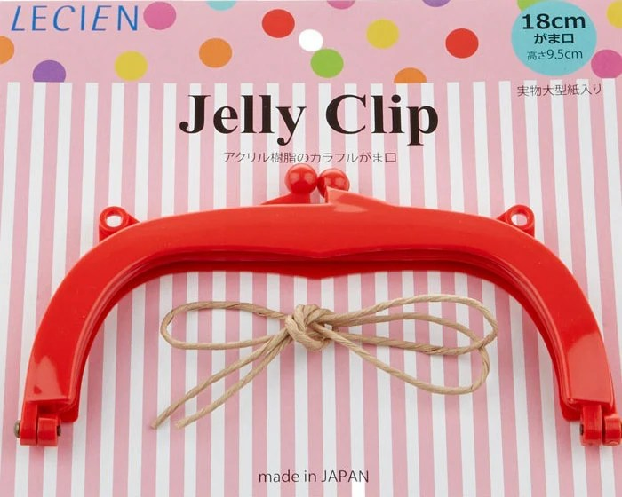"""Jelly Clip - Red - 7"""""""