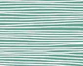 Lotta Jansdotter CANVAS Fabric - Glimma - Korkek Stripes in Turquoise