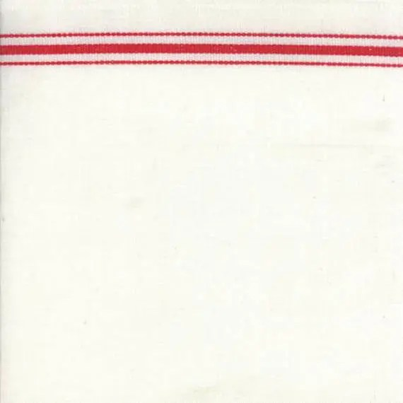 """16"""" Toweling - Red Border"""
