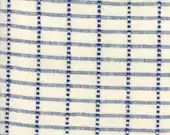 """16"""" Toweling - Cream with Blue"""