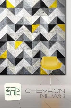 Chevron News Quilt Pattern by Zen Chic