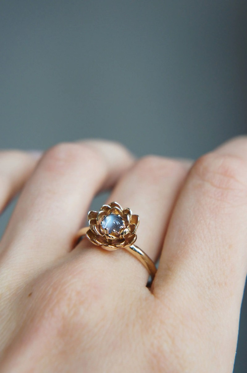 Large Of Moonstone Engagement Ring