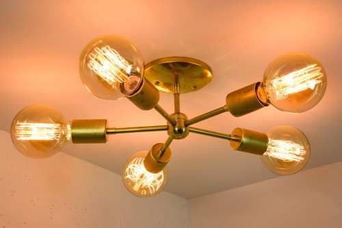 Medium Of Mid Century Modern Chandelier