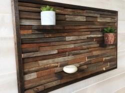 Sleek Reclaimed Wood Wall Wood Wall Rustic Rustic Wall Sticks Reclaimed Wood Wall Wood Wall Rustic Rustic Wall Wood Wall Decor Etsy Wood Wall Decor Panels