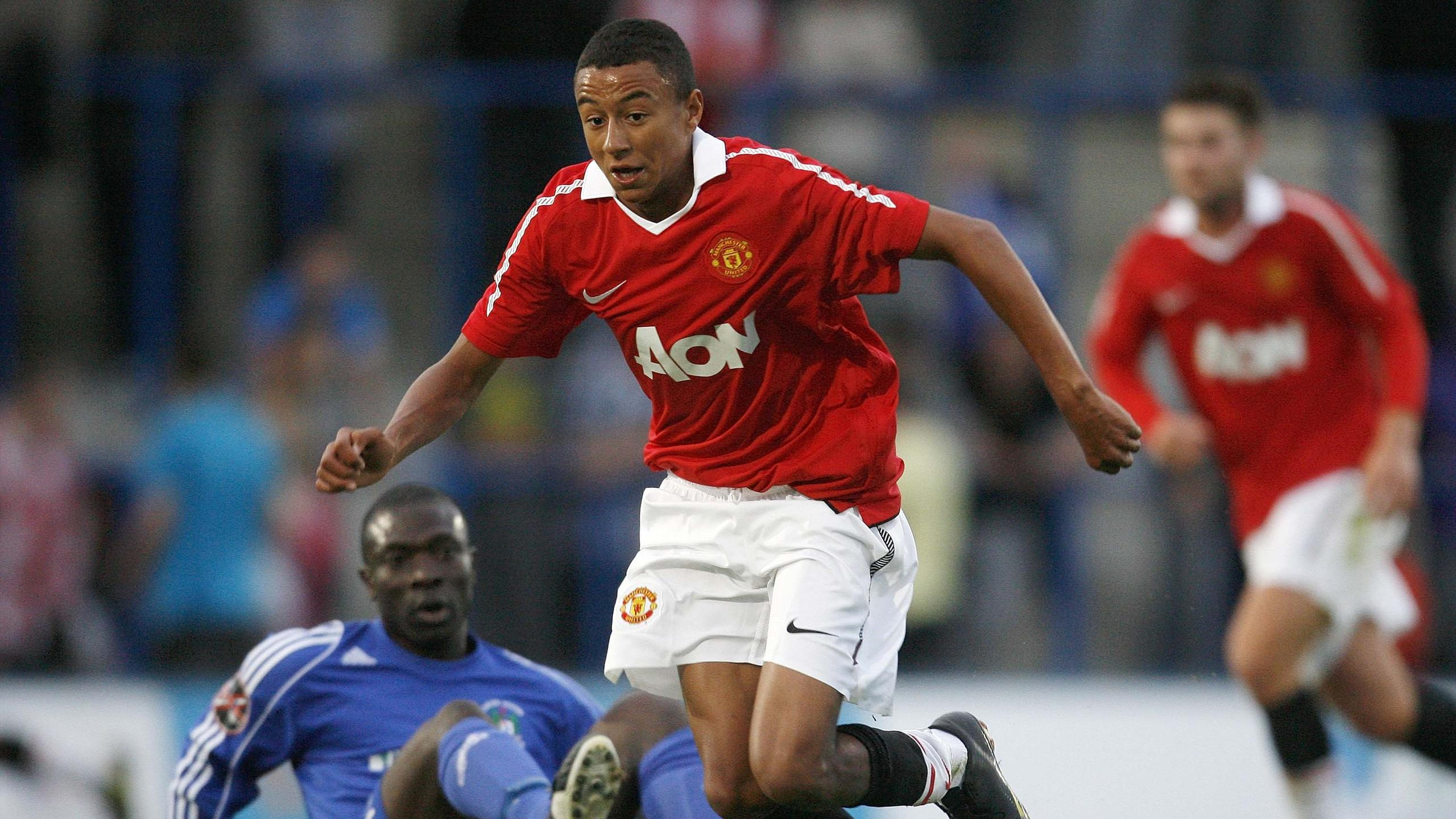 The making of Jesse Lingard   World Cup 2018   Football   Eurosport UK Jesse Lingard in action for Manchester United s youth team in 2010